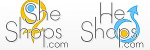 She shops – He shops logo